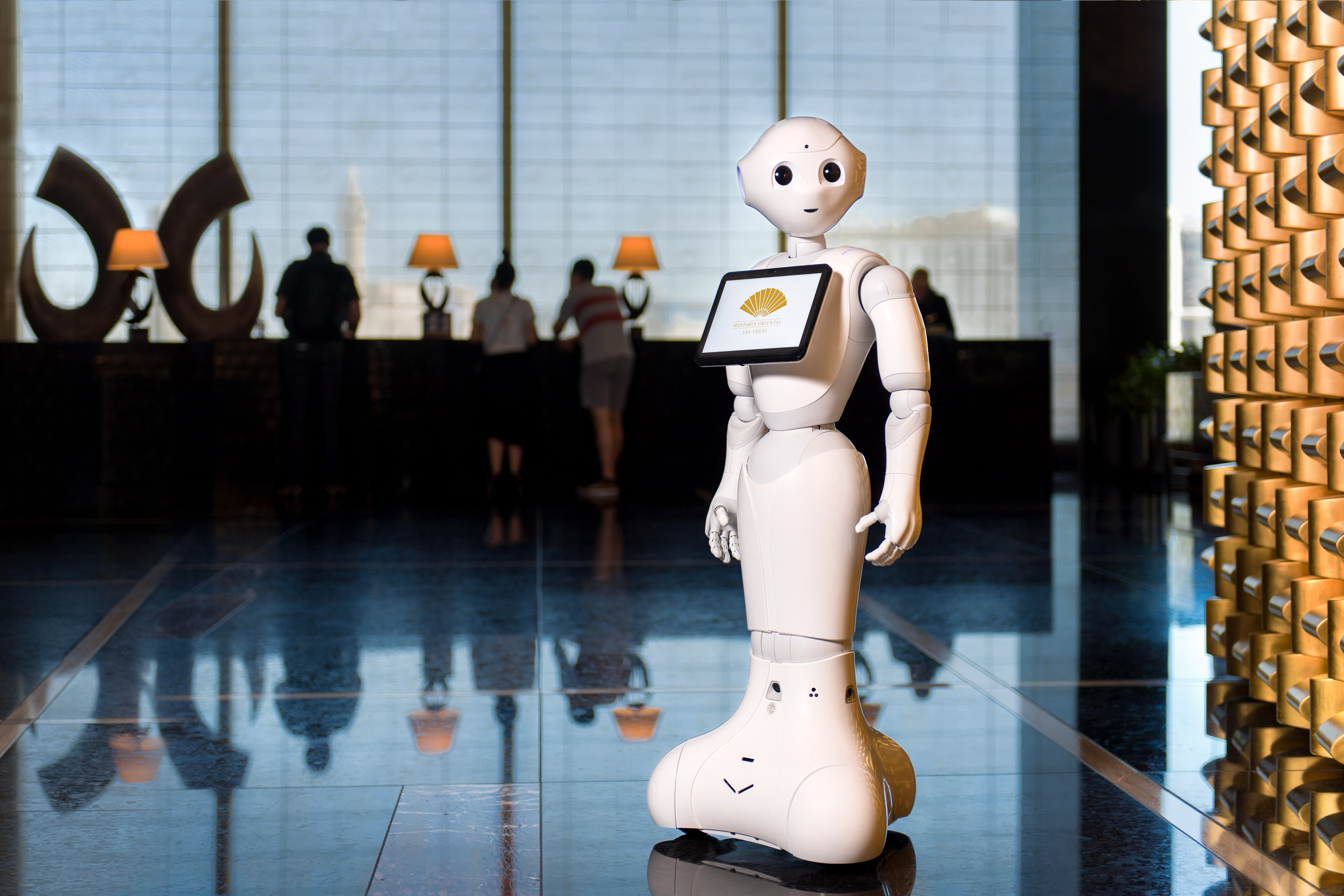 Pepper Humanoid robot helps out at hotels in two of the nation's most-visited destinations