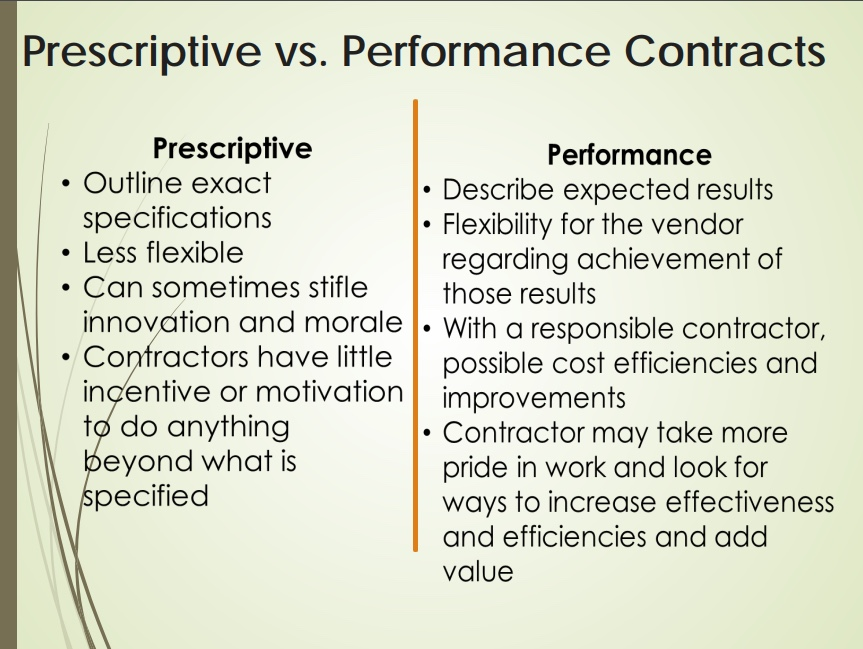 Performance Based Cleaning Contracts